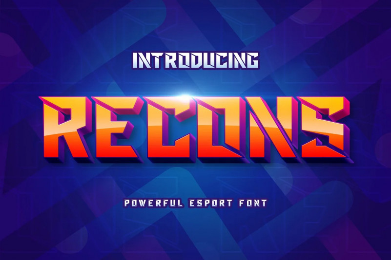 Recons Font- Free Display Sport Typeface