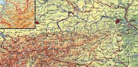 Online Terkepek Ausztria Domborzati Terkep