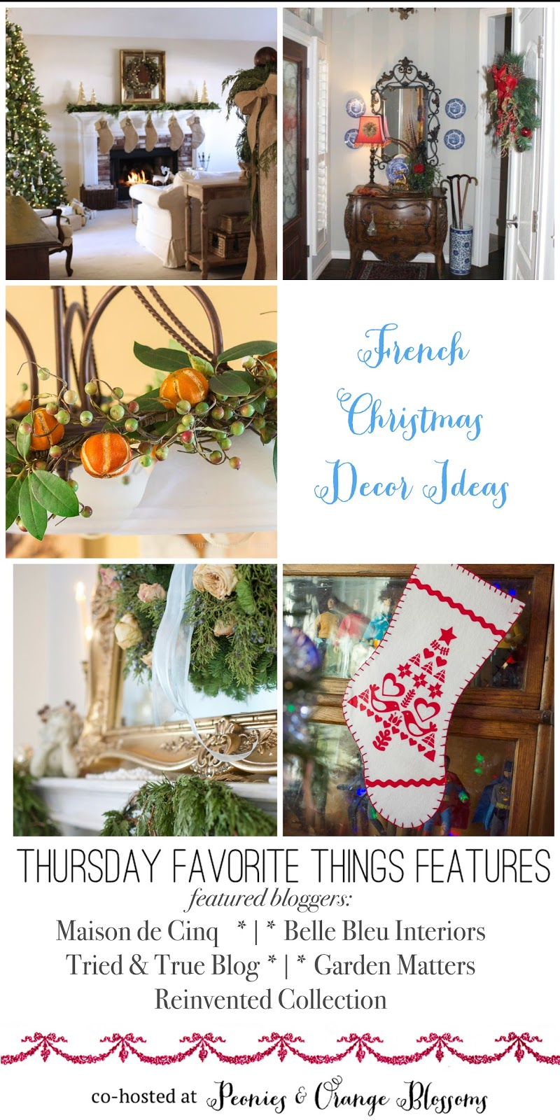 Peonies And Orange Blossoms French Christmas Ideas