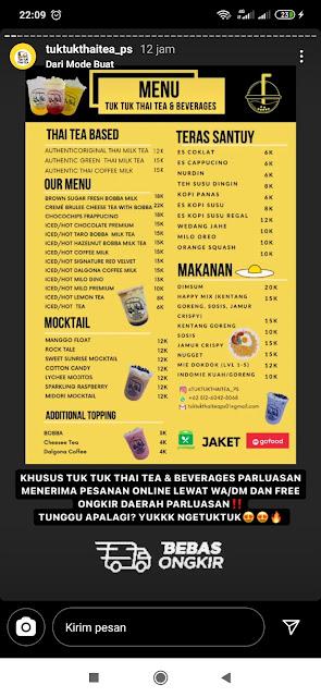 Tuk Tuk Thai Tea, Kuliner Minuman Khas Siantar