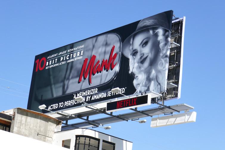 Amanda Seyfried Mank Oscar nominee billboard