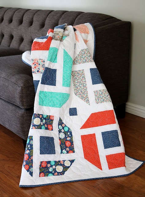 Cheerful quilt pattern - fresh, modern quilt pattern from Andy at A Bright Corner