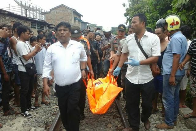 Alamak, Pria Tua Marga Lubis Tewas Terlindas Kereta Api di Pematangsiantar