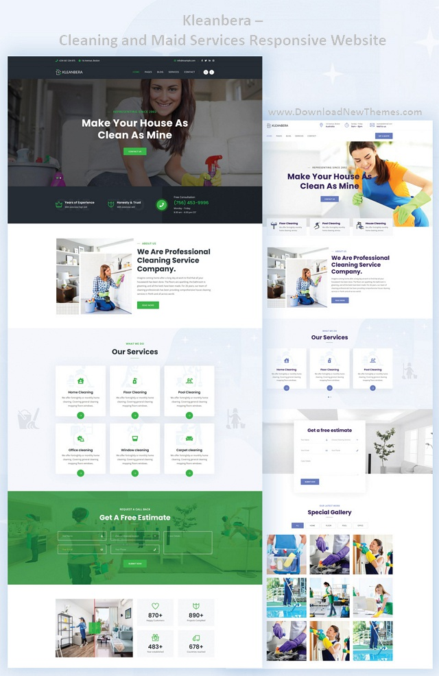Cleaning and Maid Services Responsive Website