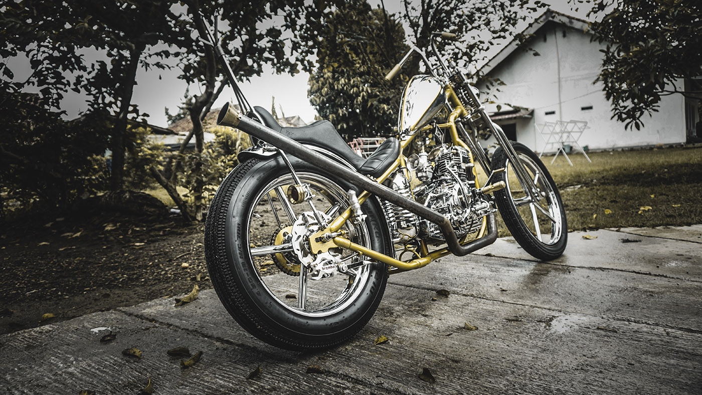 motor custom chopper Yamaha Scorpio