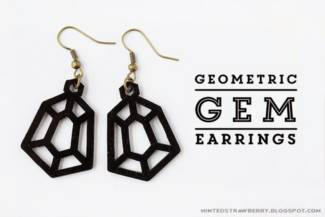 Free Faux Earring Leather Template