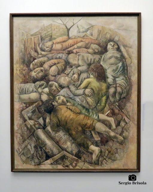 Close-up da Obra Pogrom - Museu Lasar Segall - São Paulo