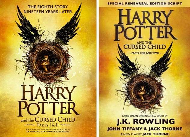 Kulit buku terbaru Harry Potter pada 2016 yang sebenarnya adalah skrip.