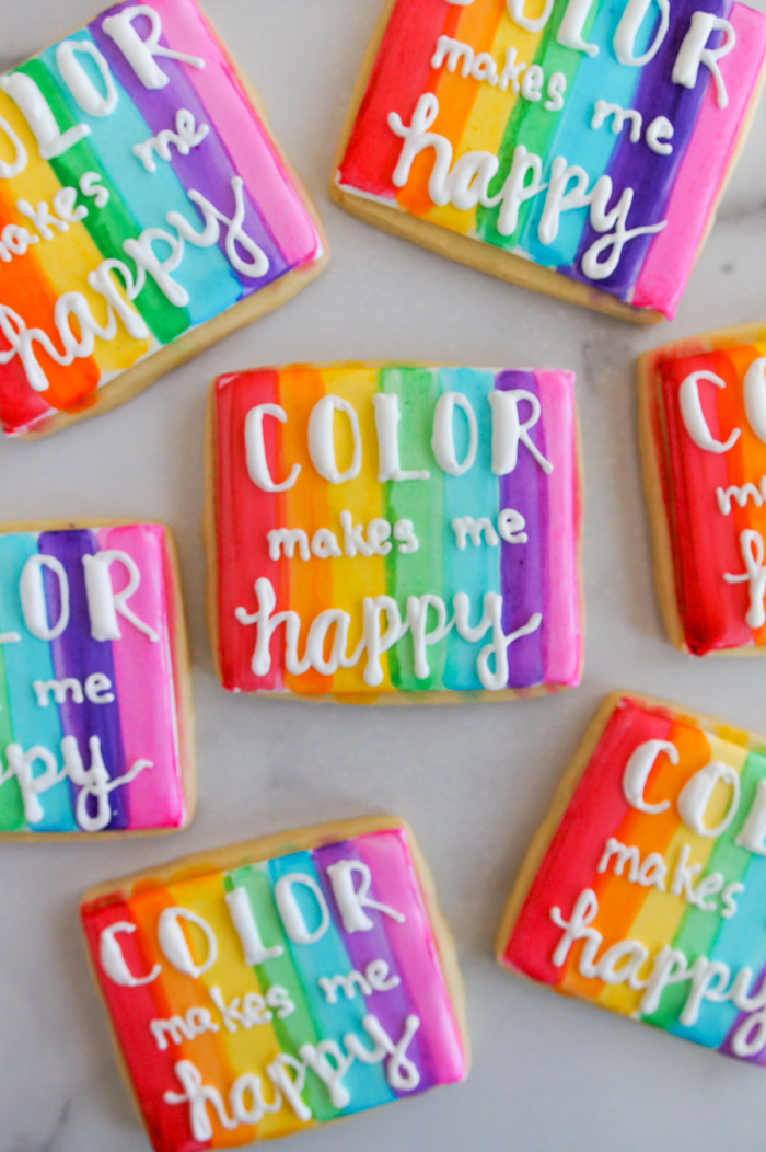 Color makes me HAPPY cookies - for House of Colour Houston