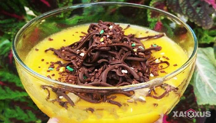 Resep cara membuat jus mangga coklat