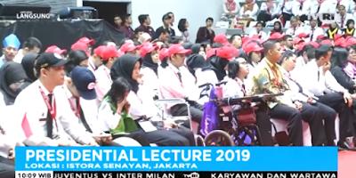Kuliah Umum Wapres Jusuf Kalla Pada Presidential Lecture 2019