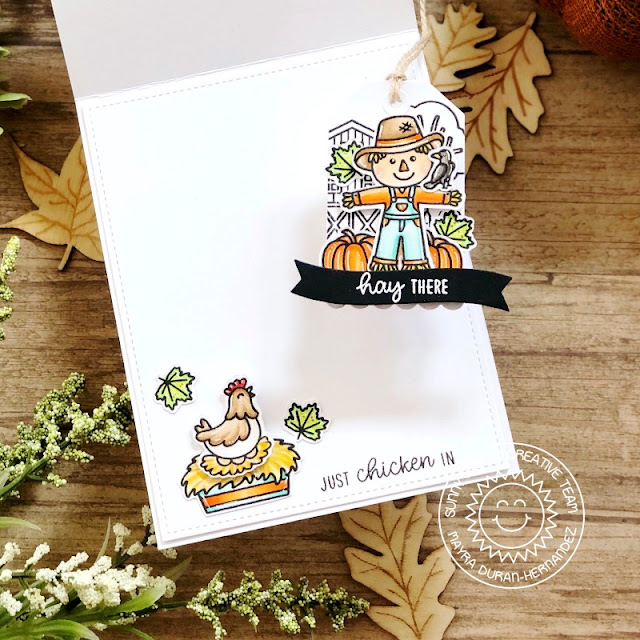 Sunny Studio Stamps: Farm Fresh Harvest Mice Bountiful Autumn Fall Themed Card by Mayra Duran-Hernandez