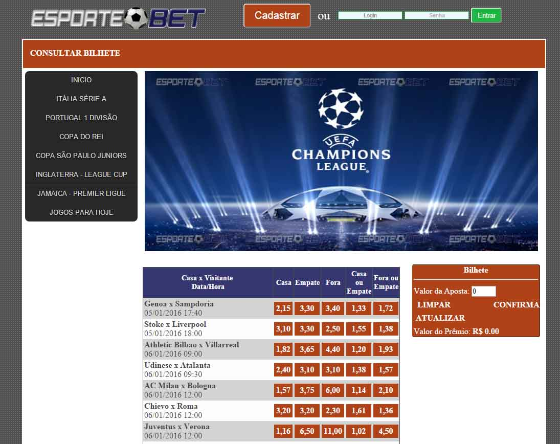 Site apostas desportivas gratis
