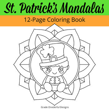 St. Patrick's Day Mandala's coloring book