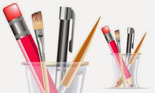 Pen Organizer Illustrator Tutorial