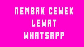 Nembak cewek lewat whatsapp