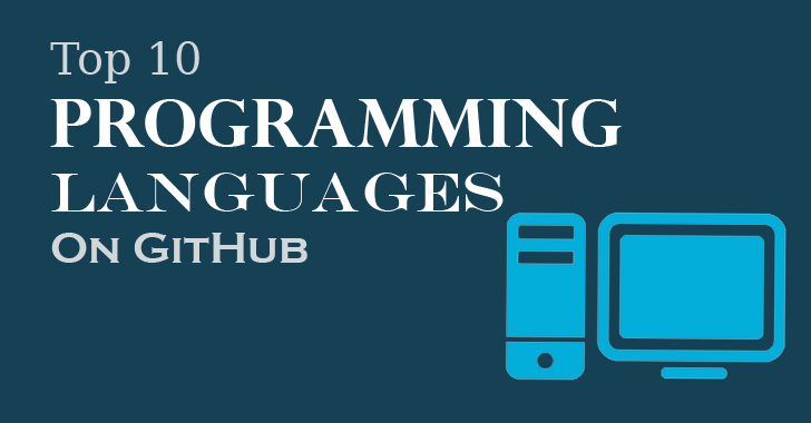 Here's Top 10 Popular Programming Languages used on GitHub