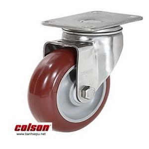 Bánh xe PU đỏ càng bánh xe inox 304 | 2-3356SS-944