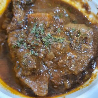 Australian Beef Rendang with frangrance rice and acar