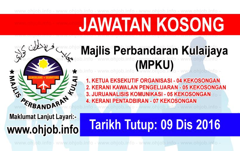Jawatan Kerja Kosong Majlis Perbandaran Kulaijaya (MPKU) logo www.ohjob.info disember 2016