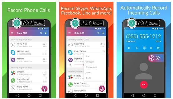 تنزيل برنامج وتطبيق  Cube Call Recorder ACR لتسجيل المكالمات للاندرويد برابط مباشر من متجر بلاي ، تسجيل المكالمه