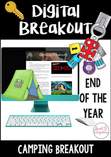 Click here to see this End of Year Camping Theme Digital Breakout (or Scavenger Hunt).