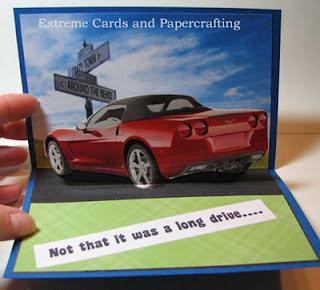 card inside Father's Day red car card