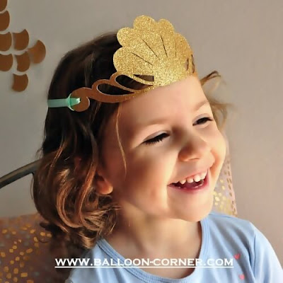 Glitter Mermaid Crown / Mahkota Mermaid Dari Kertas Glitter