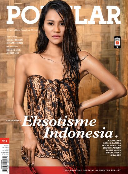 "Majalah POPULAR Indonesia No.345 Oktober 2016 Every Man Needs a Break ""Eksotisme Indonesia"" Naomi Zhen, Laras Monca, Sassha Carissa 