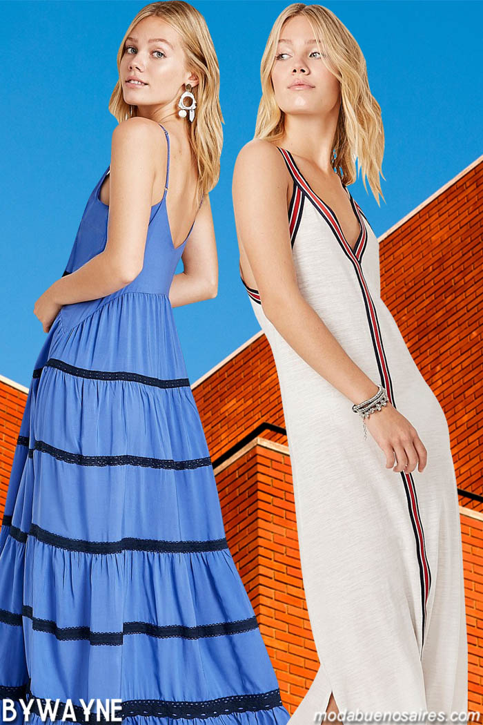 Vestidos de moda primavera verano 2020. Moda mujer primavera verano 2020 vestidos.