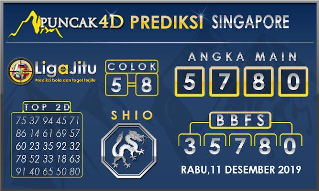 PREDIKSI TOGEL SINGAPORE PUNCAK4D 11 DESEMBER2019