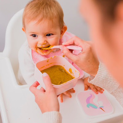 tupper bebé babero rizo goma cuello mimuselina blog mi hijo no come qué puedo hacer alimentación bebés