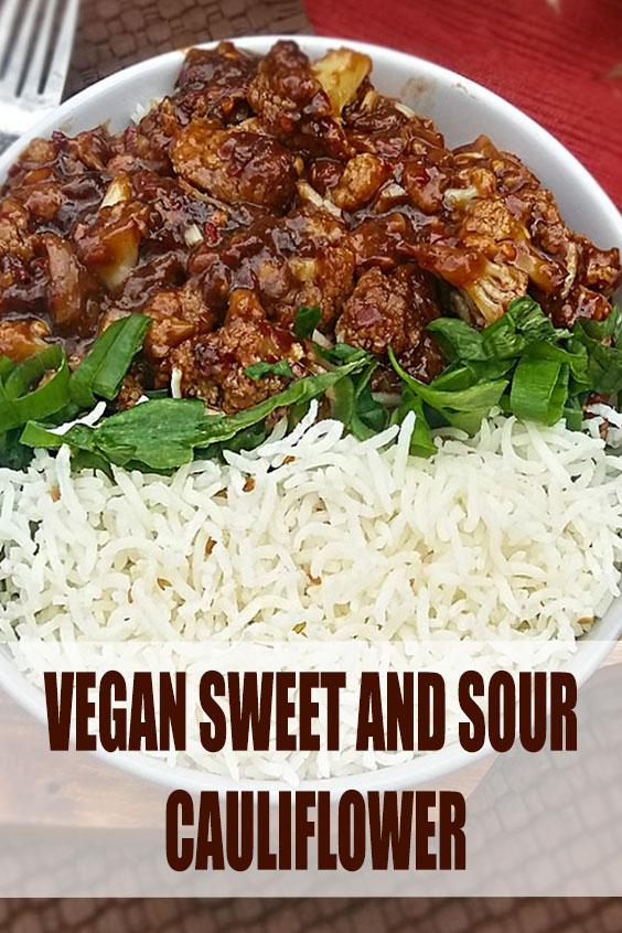 Vegan Sweet and Sour Cauliflower