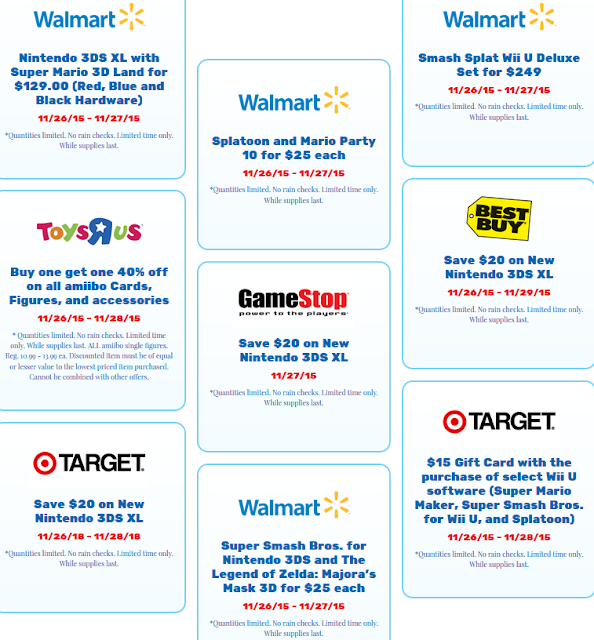 Black Friday 2015 Nintendo games Wii U 3DS deals