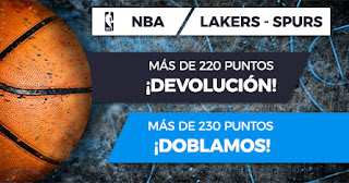 Paston promocion NBA lakers vs spurs 5 febrero 2020