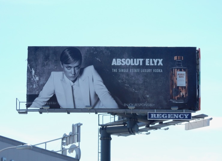 Chloë Sevigny Absolut Elyx Vodka billboard