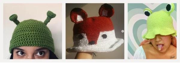 chapéu bucket hat croche