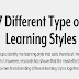 7 Different Types Of Learning Styles #infographic