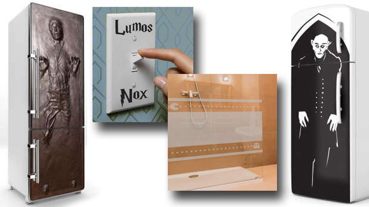 Vinilos frikis para frigorificos, para interruptores y para el baño