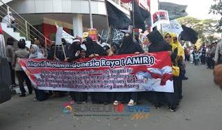 aksi damai aliansi muslim sukabumi raya (amir)