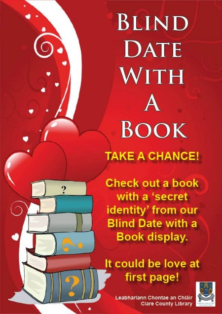 Clare County Library Blog: Blind Date with a difference at ...