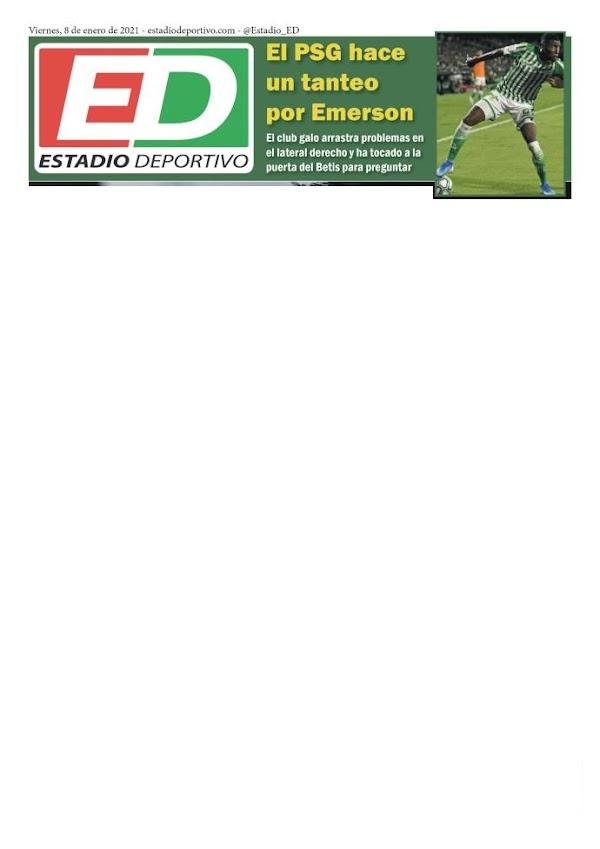 """Betis, Estadio Deportivo: """"El PSG hace un tanteo por Emerson"""""""