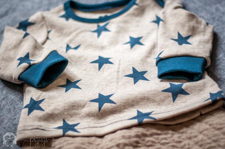 Shirt nachtblau Bio interlock
