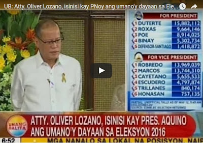 Atty. Lozano accused PNoy as mastermind in VP race poll cheating