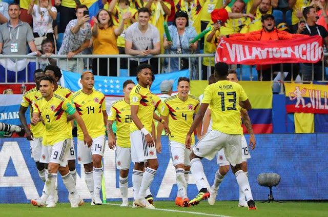 Colombia, who finished as group winners with six points