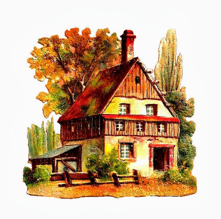 Antique Images: Free House Clip Art: 2 Antique House ... Clip Art Pictures Of Farm Houses