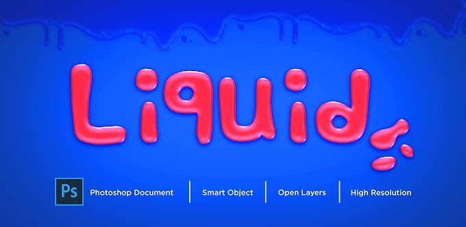 Liquid Text Effect PSD