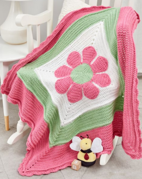 In Full Bloom Baby Blanket - Free Pattern