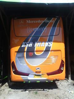 Tarif Bus Pariwisata PO. KSR Trans Surabaya