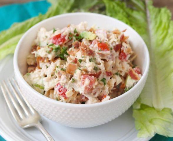 SIMPLE BLTA CHICKEN SALAD #salad #diet